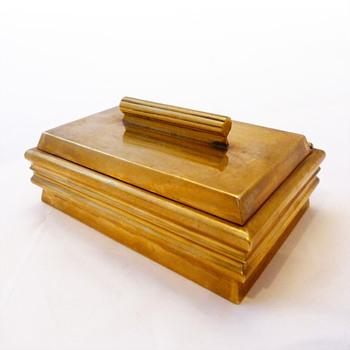 Brass cigarette box, Josef Hoffmann (Wienner Werkstätte, 1920-1925)