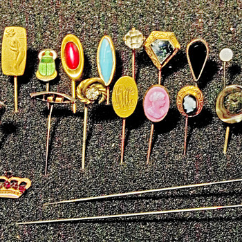 Stick pins Victoriaan era 1880-