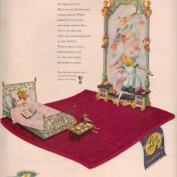 1950 Lees Carpets Advertisement