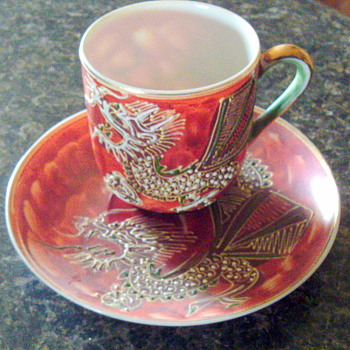 Asian Tiny Cup and Saucer