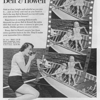 1951 - Bell & Howell Model 172 Movie Cameras Advertisement