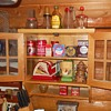 Wall Hanging Kitcheh Hutch with Vintage Kitchen Items