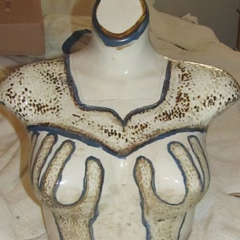 1975 Women's Ceramic Torso Boobs  - Art Pottery