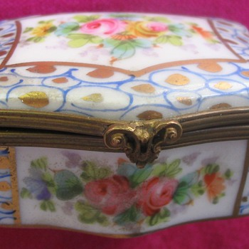 """SEVRES STYLE"" FRENCH PORCELAIN BOX - China and Dinnerware"