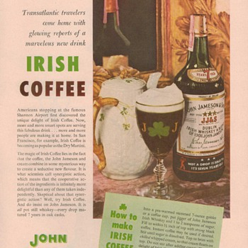 1954 John Jameson Irish Whiskey Advertisement - Advertising