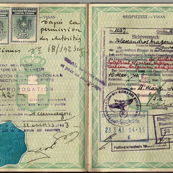 1941-1943 Greek passport for Germany