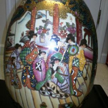 Large Painted  Satsuma  Egg