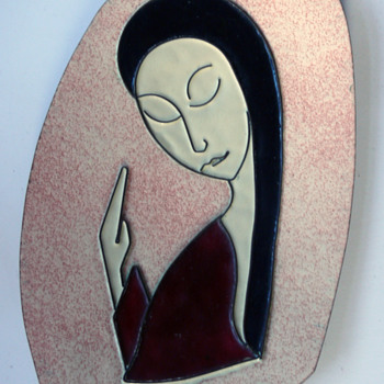 enameled wall plaque - Mid-Century Modern
