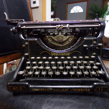 1920s Underwood No. 3 11-inch