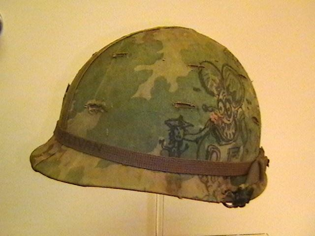 U S M 1 Helmet Used In Vietnam With Original Graffiti On
