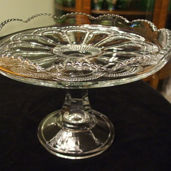 "U.S. Glass Co. or Jefferson Glass Co. of Canada ""GALLOWAY"" Pattern CAKE STAND"