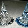 2 Crystal  purfume  bottles