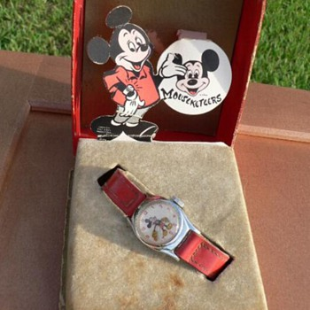 1955 Pop-Up Box Mickey Mouse Watch - Wristwatches