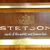 Vintage Stetson Hat Co electric sign with etched glass