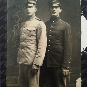 Great pre WWI U.S. MARINE CORPS R.P.P.C. photo post card with uniform variations
