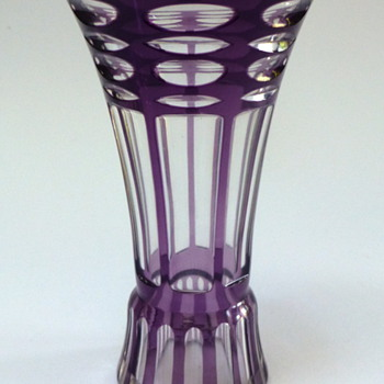 Cut to clear purple vase