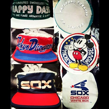 SKOAL TOBACCO HAPPY DAYS, TOKYO DISNEYLAND &amp; CHICAGO WHITE SOX HATS