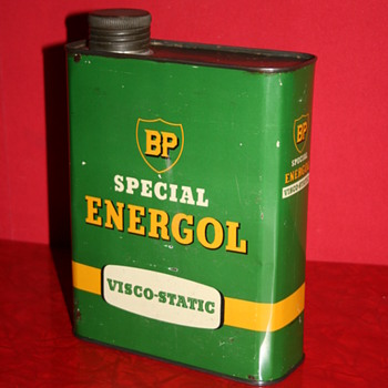 BP energol oil can