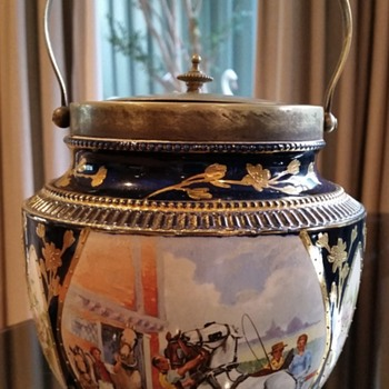 Vintage/Antique Biscuit Barrel - Pottery