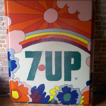 Vintage Peter Max 7-up Sign - Signs