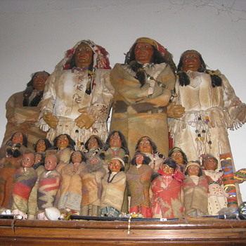 Native American Skookum Dolls - Native American
