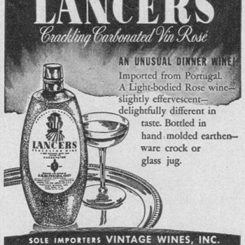 1950 Lancers Wine Advertisement - Advertising