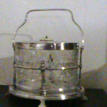 Ice bucket from 1800's I think! Recently discovered this is biscuit decanter