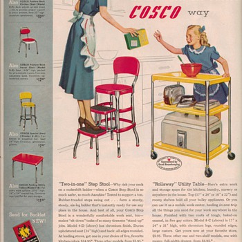 1950 Cosco Stools Advertisement - Advertising