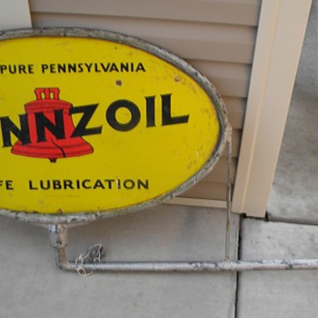 Very rare Pennzoil Porcelain Sign - Petroliana
