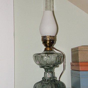 glass lamp with chimney