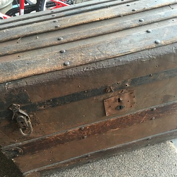 Grandfathers steamer trunk