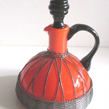 LOETZ OR KRALIK METAL CASED DECANTER/JUG - Art Glass