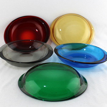 Japanese glass entree dishes - Glassware
