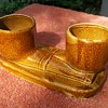 Two smoking pipes brown pottery!