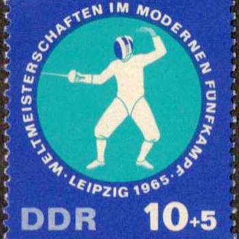 "1965 - E, Germany ""Pentathlon"" Postage Stamps - Stamps"