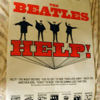 Beatles Help Soundtrack Store Poster