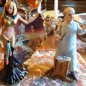 Do not drink and drive and  Do Not Drink and Buy!!  Or you may have Cleopatra and Japanese Surgeon! - Art Pottery
