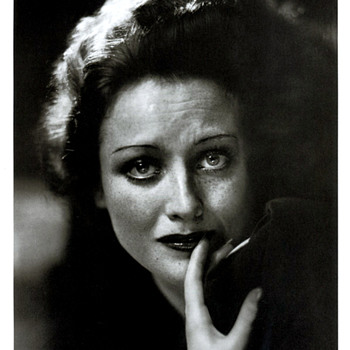 Joan Crawford by George Hurrel Signed and in a matt produced exclusively for Hurrell