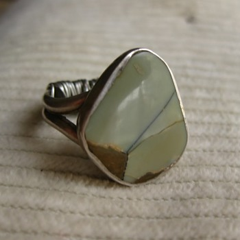 Mystery stone - another green and sterling ring