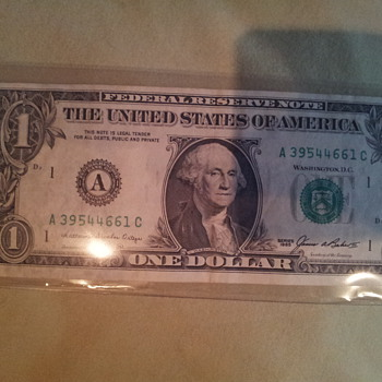 Ink Error on dollar bill