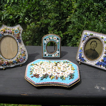 My collection of Micro Mosaic items - Victorian Era
