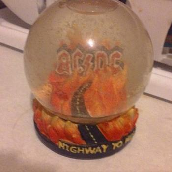 AC DC Snow Globe