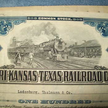 Railroad stock cert. artwork... - Railroadiana
