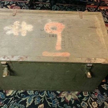 military antique chest