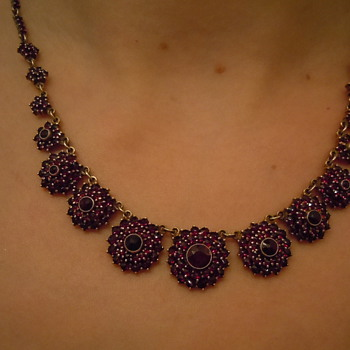 My Edwardian Era Garnet Necklace
