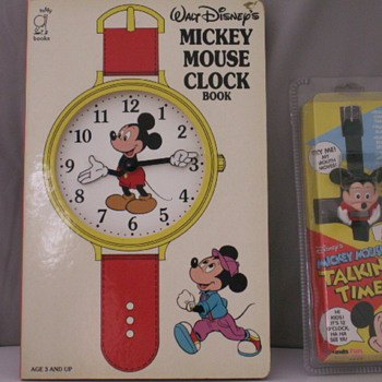 Mickey Mouse Talking Time Watch &  A Mickey Mouse Clock Book - Wristwatches