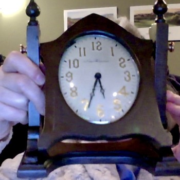 my Grandfather & his desk clock–both, mysteries