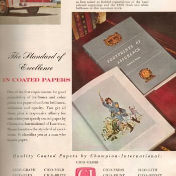 1953 - Champion Int&#039;l Coated Papers Advertisements - Advertising