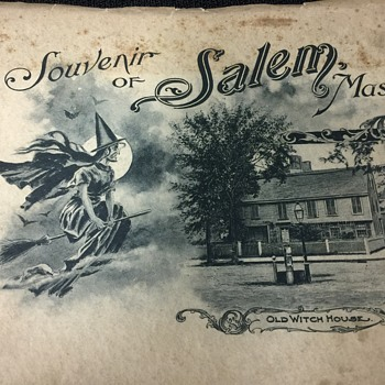 OLD SOUVENIR BOOKLET OF SALEM MASS. OLD WITCH HOUSE & MORE - Paper