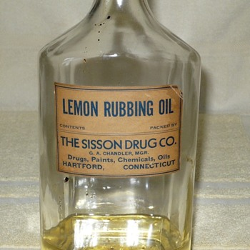 Bottle Lemon Rubbing Oil